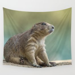 Praire dog sitting in the sun Wall Tapestry