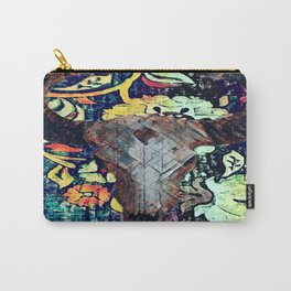 Cow Skull Floral Carry-All Pouch