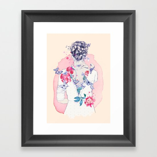 Undress me Framed Art Print