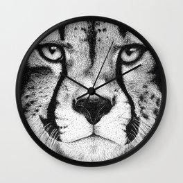 Cheetah face Wall Clock