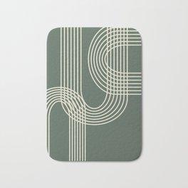 Minimalist Lines in Forest Green Bath Mat