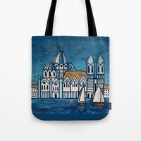 italy Tote Bags featuring italy by Ninamelusina