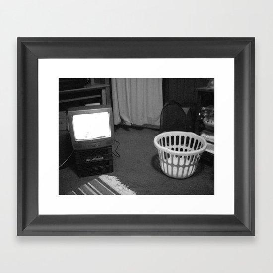 TV Rays Framed Art Print