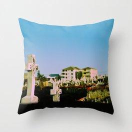 Suburban afterlife Throw Pillow