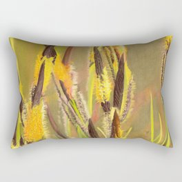 GLOWING GRASS Rectangular Pillow