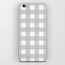 Buffalo Checks Plaid in Dove Gray and White iPhone Skin