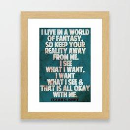 Typgrphy Framed Art Print