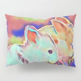Day Time Dwarf Bunnies Pillow Sham