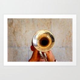 Blowing Jazz On A Rainy Day Art Print