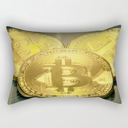 Bitcoins macro big round mojo Rectangular Pillow