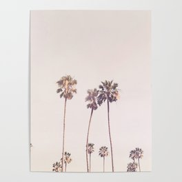 Sunny Cali Palm Trees Poster