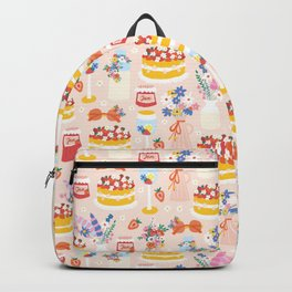 Garden Party Table Pink Backpack