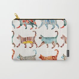 Cat Collection: Watercolor Carry-All Pouch
