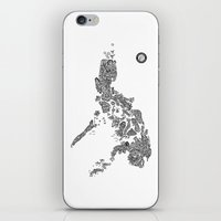 philippines iPhone & iPod Skins featuring Paranormal Philippines (white) by Rev Cruz