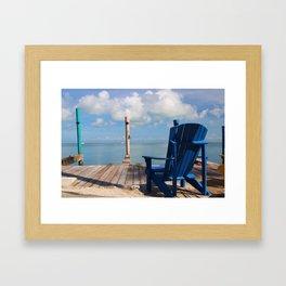 Blue Chair Islamorada Framed Art Print