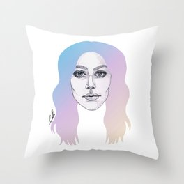 Colours In My Hair Throw Pillow