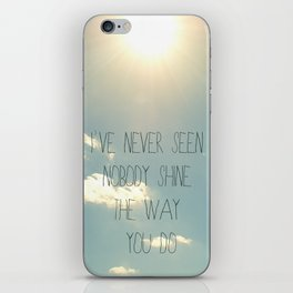 sky lyrics iPhone Skin