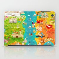 game of thrones iPad Cases featuring A Map of Ice and Fire by Kitkat Pecson