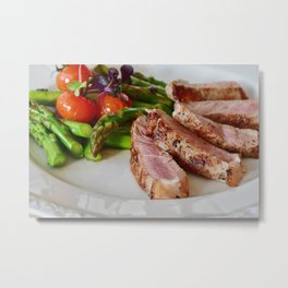 passion for food and eating - fillet of meat Metal Print