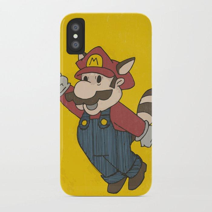 Super Mario Racoon iPhone Case
