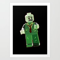 zombie Art Prints featuring Zombie by Emma Harckham