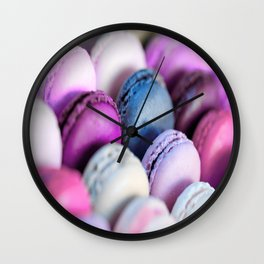 Lavender Purple Macaroons Wall Clock