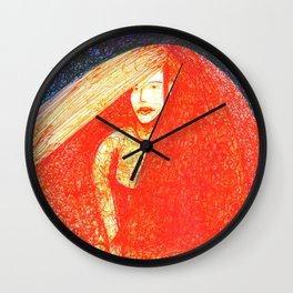 Red Bride Wall Clock