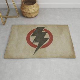 lightning strike zone Rug