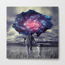 Father with Child Metal Print