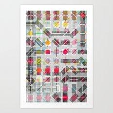 New Plaid Art Print