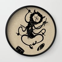monster Wall Clocks featuring Monster by Anya Volk
