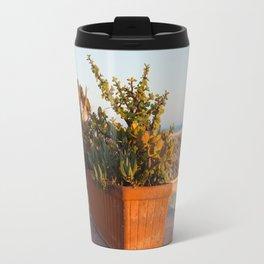 Flowerpots on the terrace Travel Mug