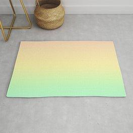 Pastel Rainbow Gradient Pattern Rug