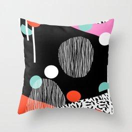 Mega Bulk - 80s style throwback retro pattern art memphis grid pattern minimalist 1980's Throw Pillow