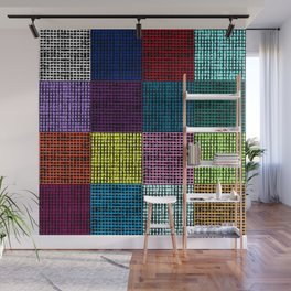 Th Grid - Multcolored Wall Mural