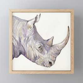 Regal Rhino Framed Mini Art Print