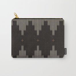 Southwestern Minimalist Black & White Carry-All Pouch