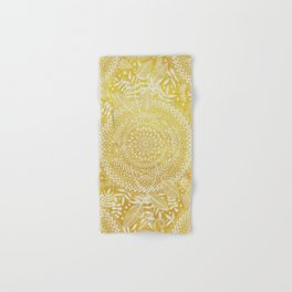 Medallion Pattern in Mustard and Cream Hand & Bath Towel