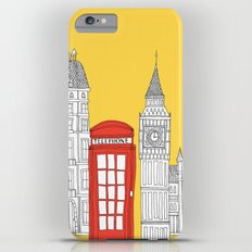 Capital Icons 4 // London Red Telephone Box iPhone 6s Plus Slim Case