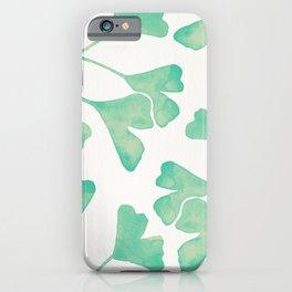 Ginkgo Biloba – Mint iPhone Case