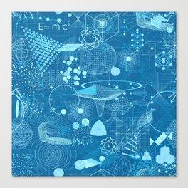 Science Schemes Pattern Canvas Print