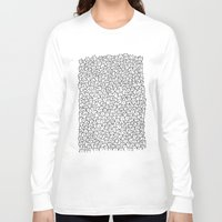 gray pattern Long Sleeve T-shirts featuring A Lot of Cats by Kitten Rain