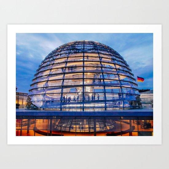 Berlin Bundestag Dome Fine Art Print by sidecarphoto