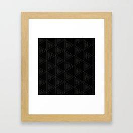 Modern Black Triangle Pattern Framed Art Print