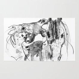 Horses (Socializing) Rug