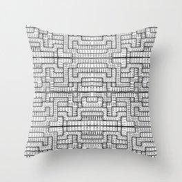 MANY MAZE MEN Throw Pillow