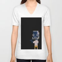steve jobs V-neck T-shirts featuring 8 BIT STEVE JOBS by David Wong
