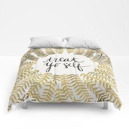 Treat Yo Self – Gold Comforters