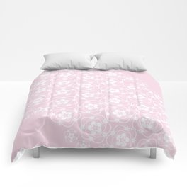White Floral Lace Comforters