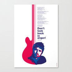 Noel Gallagher - Don't Look Back In Anger Canvas Print